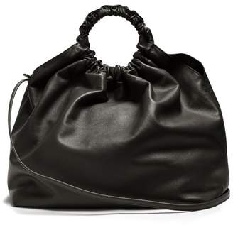 The Row Double Circle XL leather bag