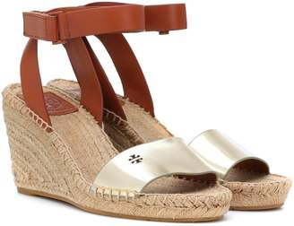e22ebfb3a2 Tory Burch Bima leather wedge espadrilles