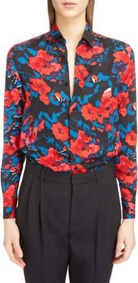 Saint Laurent Floral Jacquard Shirt