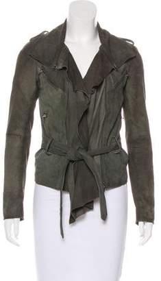 AllSaints Suede Zip-Up Jacket