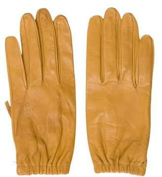 Calvin Klein Mustard Leather Gloves