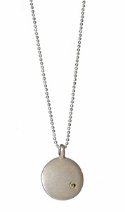 Julez Bryant Sterling Silver Disk Pendant Necklace