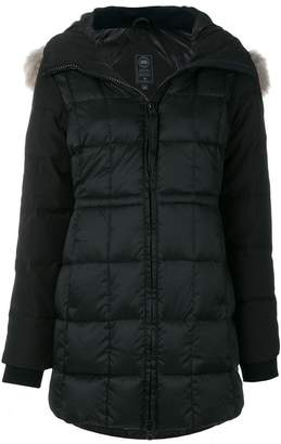 Canada Goose padded jacket with fur collar