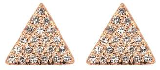 Ef Collection 14K Rose Gold Pave Diamond Triangle Stud Earrings - 0.13 ctw