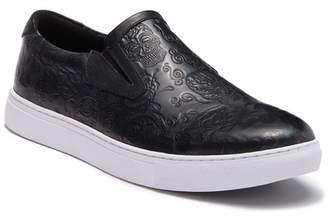 Robert Graham Baxter Embossed Leather Slip-On Sneaker