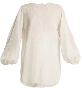 The Row Latou Open Back Linen Top - Womens - Ivory