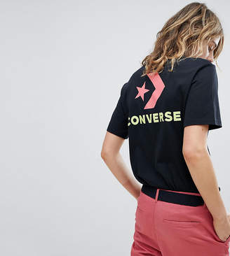 Converse Exclusive To ASOS T-Shirt In Black With Neon Branding