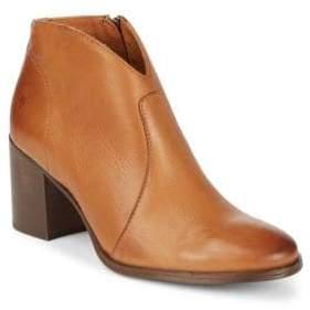 Frye Nora Leather Zip Booties