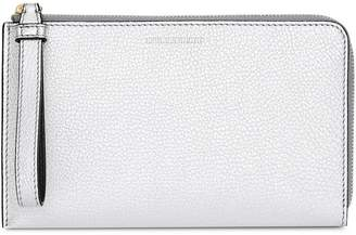 Burberry Two-tone Metallic Leather Travel Wallet