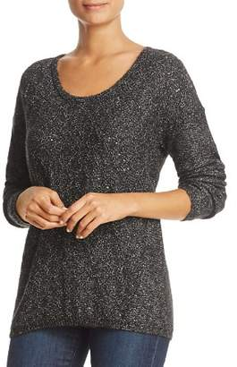 NYDJ Drop Shoulder Marled Sequin Sweater