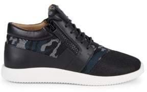 Giuseppe Zanotti Camouflage Lace-Up Sneakers