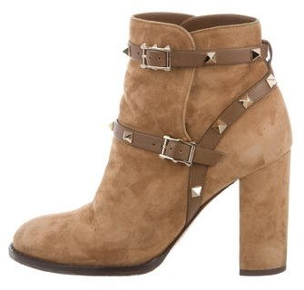 ValentinoValentino Suede Rockstud Ankle Boots