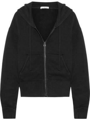 James Perse Cotton-blend Jersey Hooded Top - Black