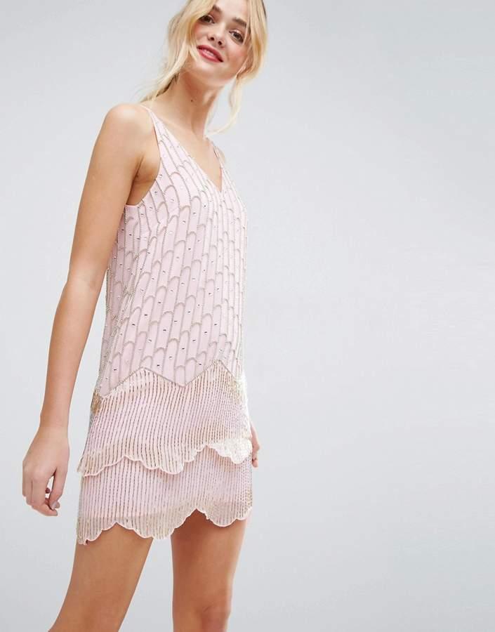 AsosASOS Ultra Mini Embellished Double Hem Mini Dress