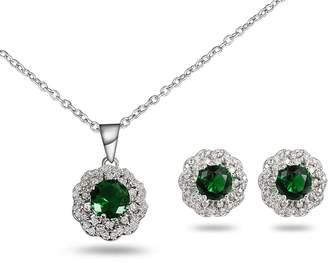 17maimeng Women's Elegant Vintage Flower Necklace Statement Earrings Jewelry Set