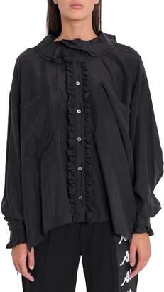 Faith Connexion Frll Silk Shirt