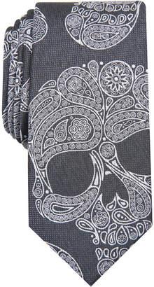INC International Concepts I.n.c. Men Paisley Skull Skinny Tie
