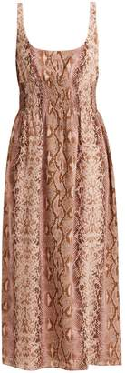 Emilia Wickstead Giovanna python-print silk dress