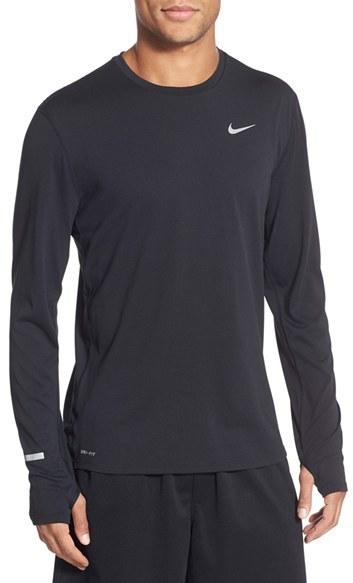 Men's Nike 'Contour' Long Sleeve Dri-Fit Running T-Shirt