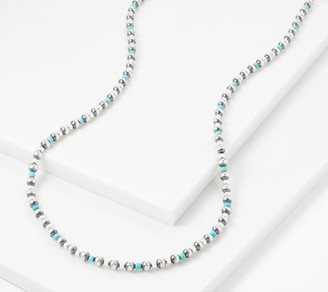"American West Sterling Silver Gemstone Bead 32"" Necklace"