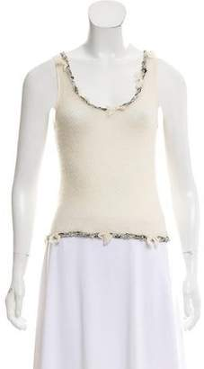 Chanel Interlocking CC Cashmere Top