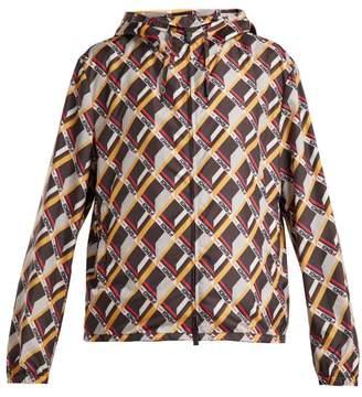 Fendi Mania Cube Print Hooded Jacket - Womens - Multi