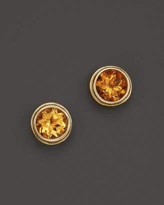 Bloomingdale's Citrine Bezel Set Stud Earrings in 14K Yellow Gold - 100% Exclusive