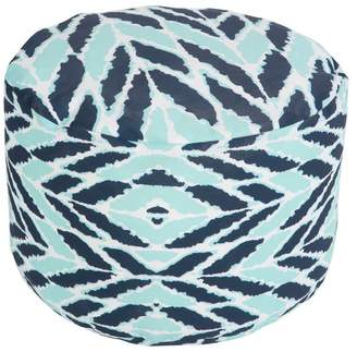 Surya Pouf Bijou Blue 20 x 13 Round Accent Furniture Pouf