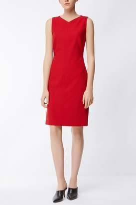 HUGO BOSS Red Sleeveless Dress