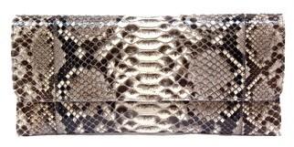 Carlos Falchi - 741-397 - Natural Snakeskin Clutch