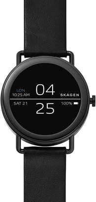 Skagen Falster Touchscreen Leather Strap Smart Watch, 42mm