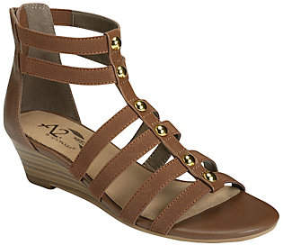 Aerosoles A2 by Strappy Wedge Sandals - Here WeGo