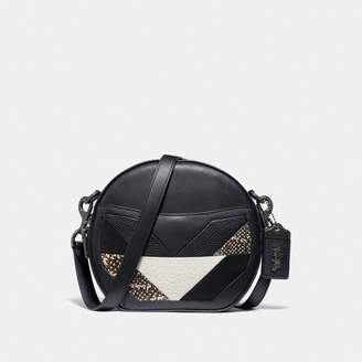 Coach Canteen Crossbody With Patchwork And Snakeskin Detail