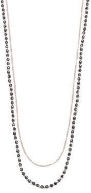Astley Clarke Biography Hematite& White Sapphire Sun Beaded Necklace