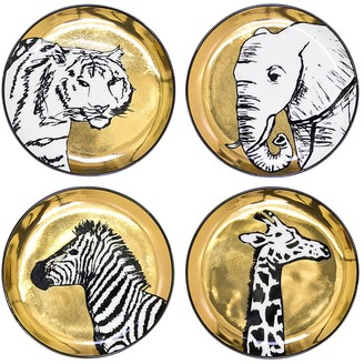 Jonathan Adler Animalia Set Of 4 Porcelain Coasters