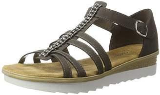 Rieker Women's 63128 Wedge Heels Sandals, Grey (Stromboli/45)