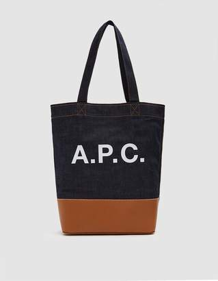 A.P.C. Axel Tote Bag in Caramel