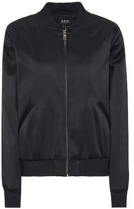 A.P.C. Satin bomber jacket