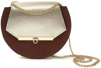 669c6d4d8d at Wolf   Badger · Angela Valentine Handbags - Loel Mini Military Bee Chain  Bag Clutch Cognac   Champagne Gold