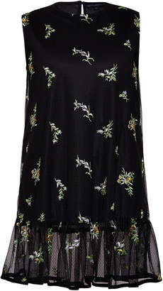 Rahul Mishra Bouquet Sleeveless Mesh Embroidered Top