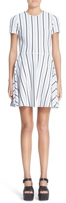 Women's Opening Ceremony Stripe Fit & Flare Dress $450 thestylecure.com