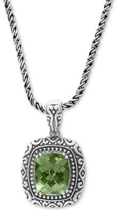 "Effy Prasiolite Ornate 18"" Pendant Necklace (5-3/8 ct. t.w.) in Sterling Silver"