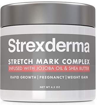 Strexderma Best 72% Organic Pregnancy Stretch Marks Removal Cream for New or Old Marks and Scars