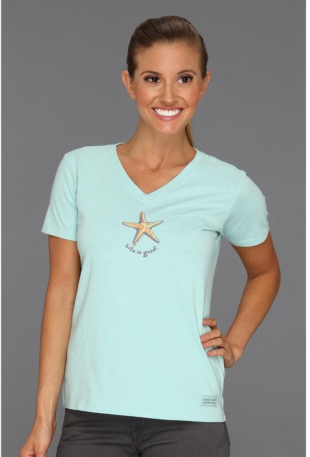 Life is Good Fresh Starfish Crusher Vee Women's T Shirt