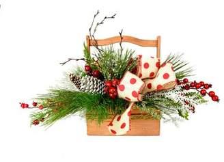 Creative Displays, Inc. Festive Polka Dot and Berry Basket