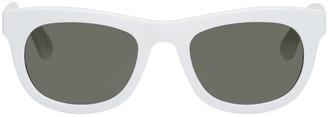 Han Kjobenhavn White Cubicle Sunglasses $190 thestylecure.com
