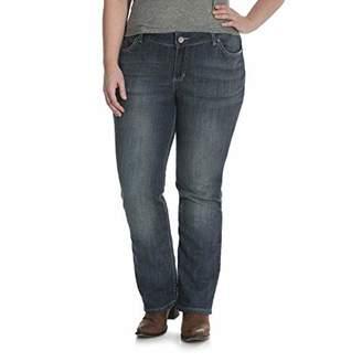 Wrangler Women's Plus Size Mid Rise Straight Jean