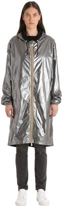 K-Way R&d Xavier Silver Laminated Raincoat