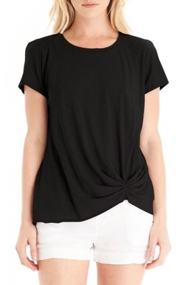 Women's Michael Stars Pleat Front Crewneck Tee $74 thestylecure.com