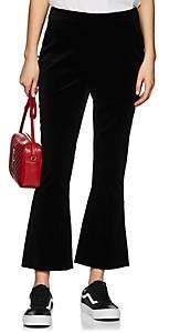 Frame Women's Velvet High-Rise Slit Pants - Black